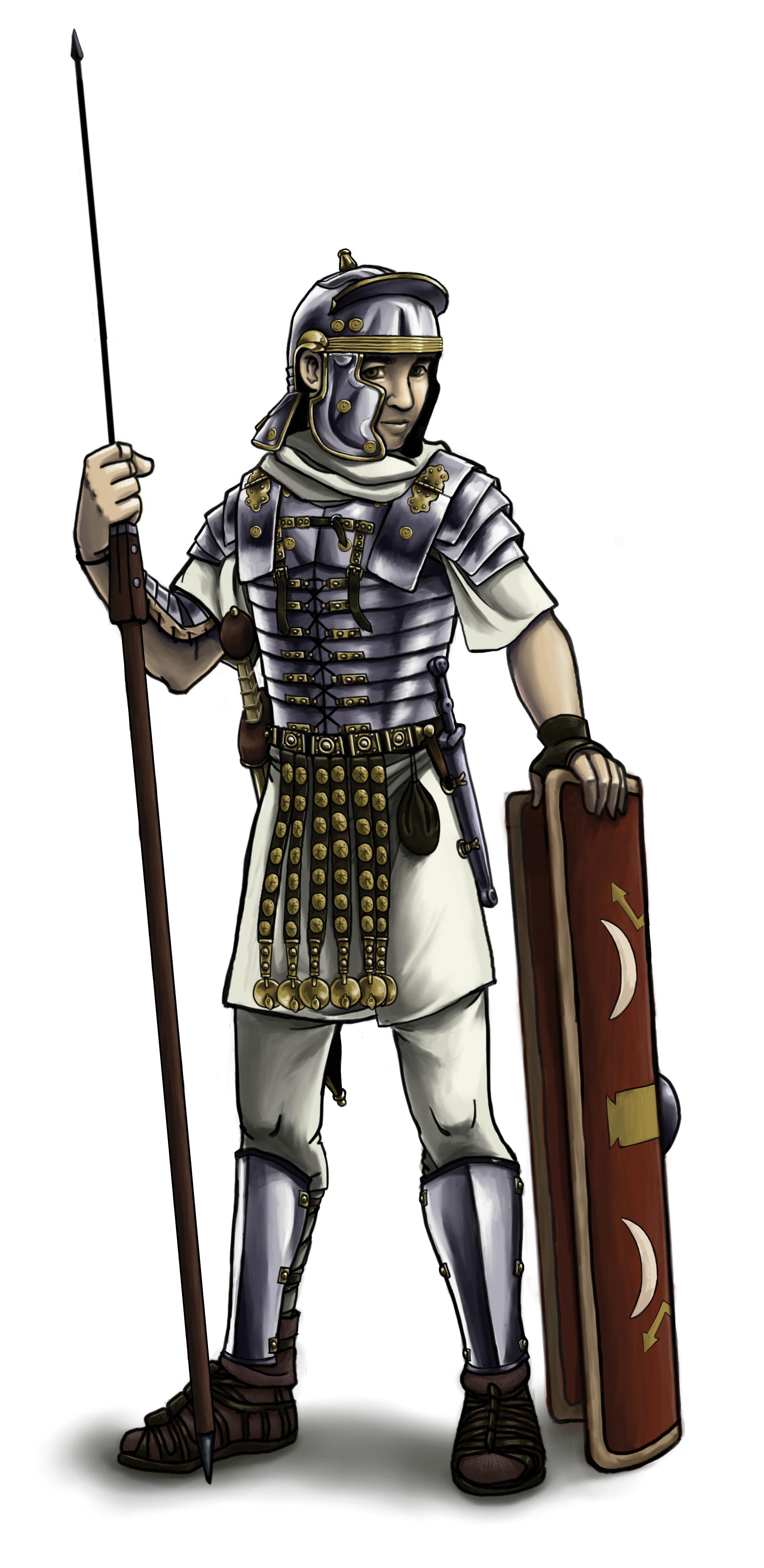 roman soldier digital painting in aciem