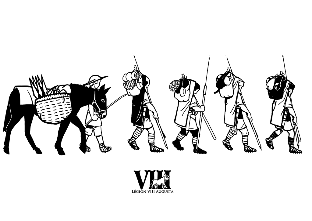 I did this drawing for a t-shirt for our reenactment group, LEG VIII AUG.
