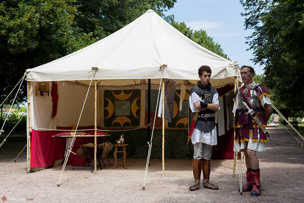 The Legatus tent. He's speaking to a simple legionary.