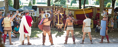 French Roman reenactment event: Autun 2013